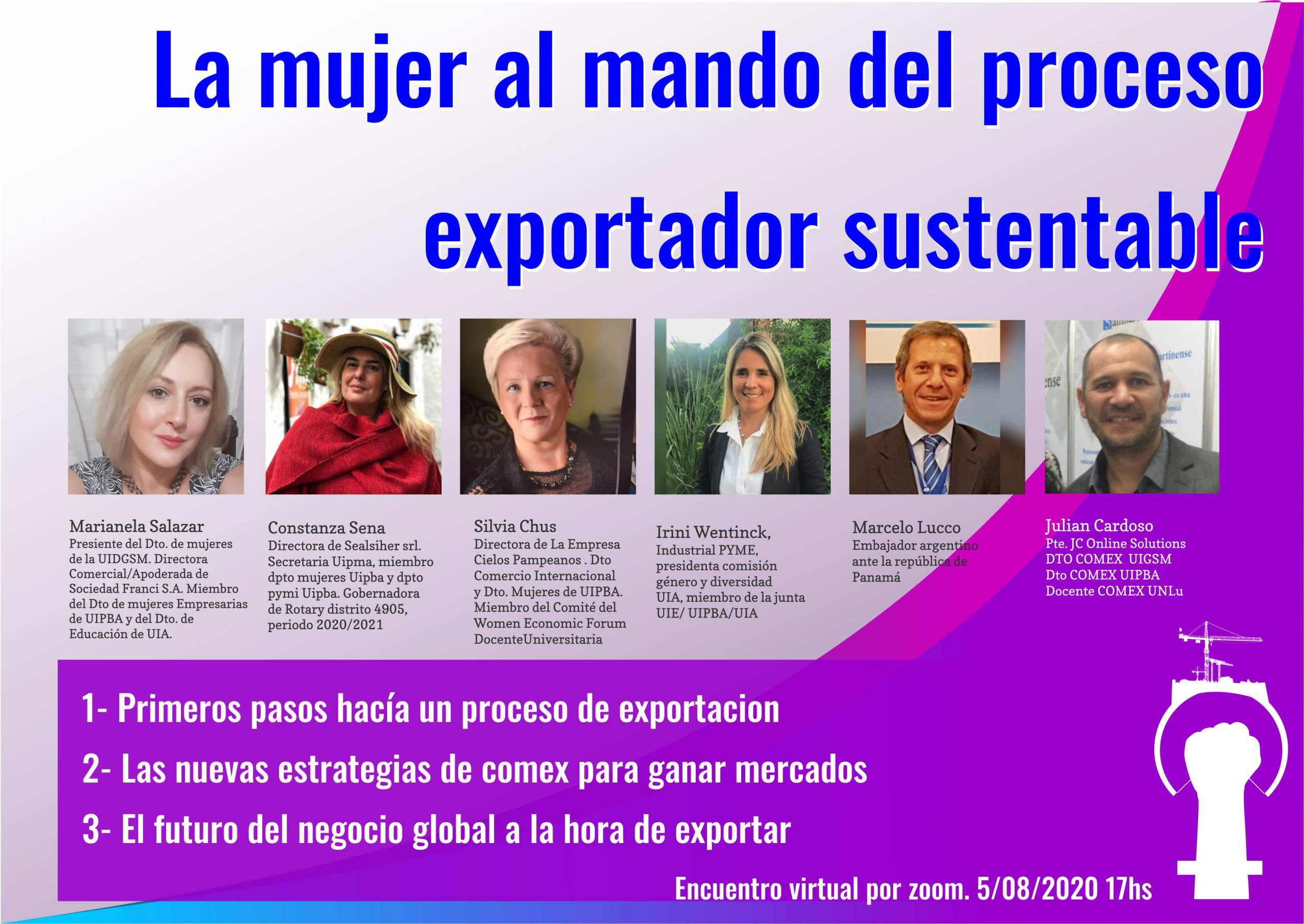 Trabajando para el desarrollo de la mujer en el comercio exterior