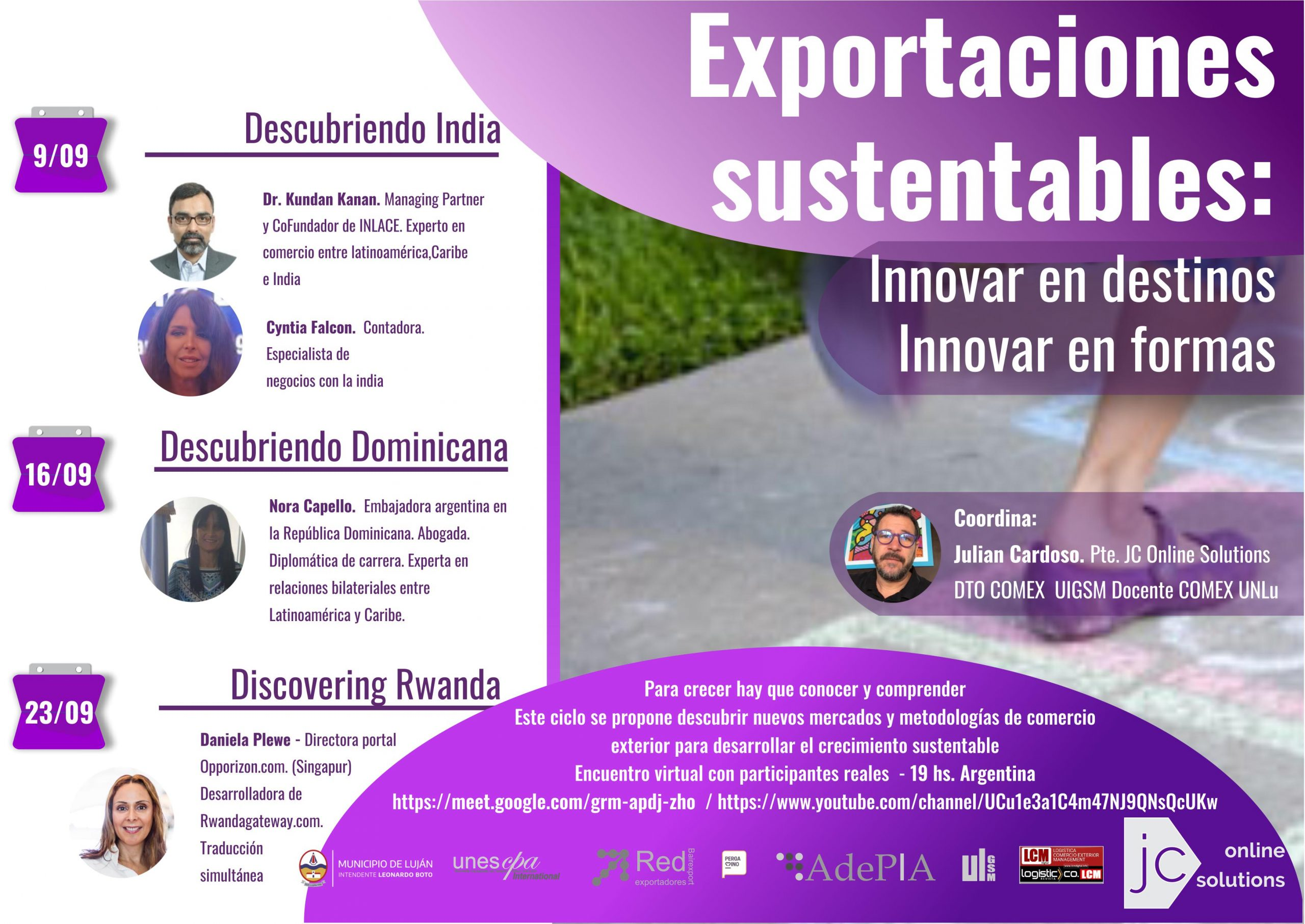 Sustainable exports. Innovating in destinations. Innovating in ways.
