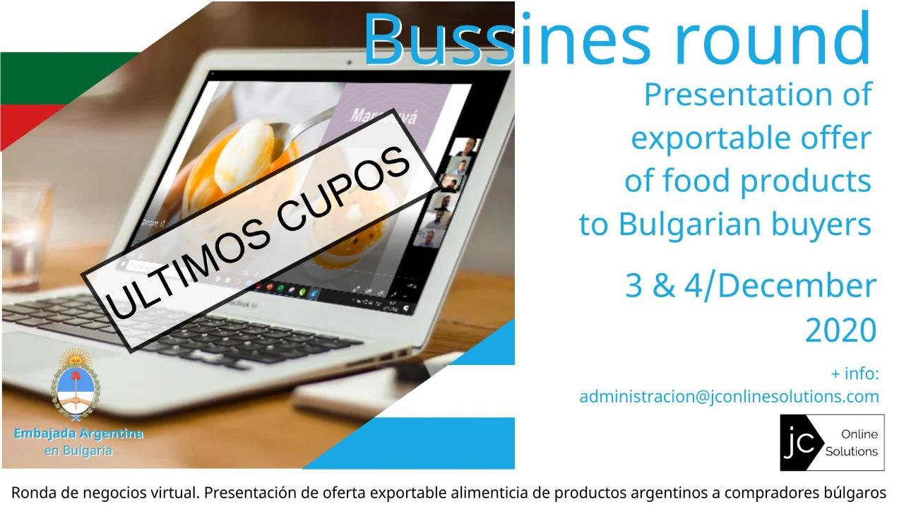Ronda de Negocios con compradores bulgaros