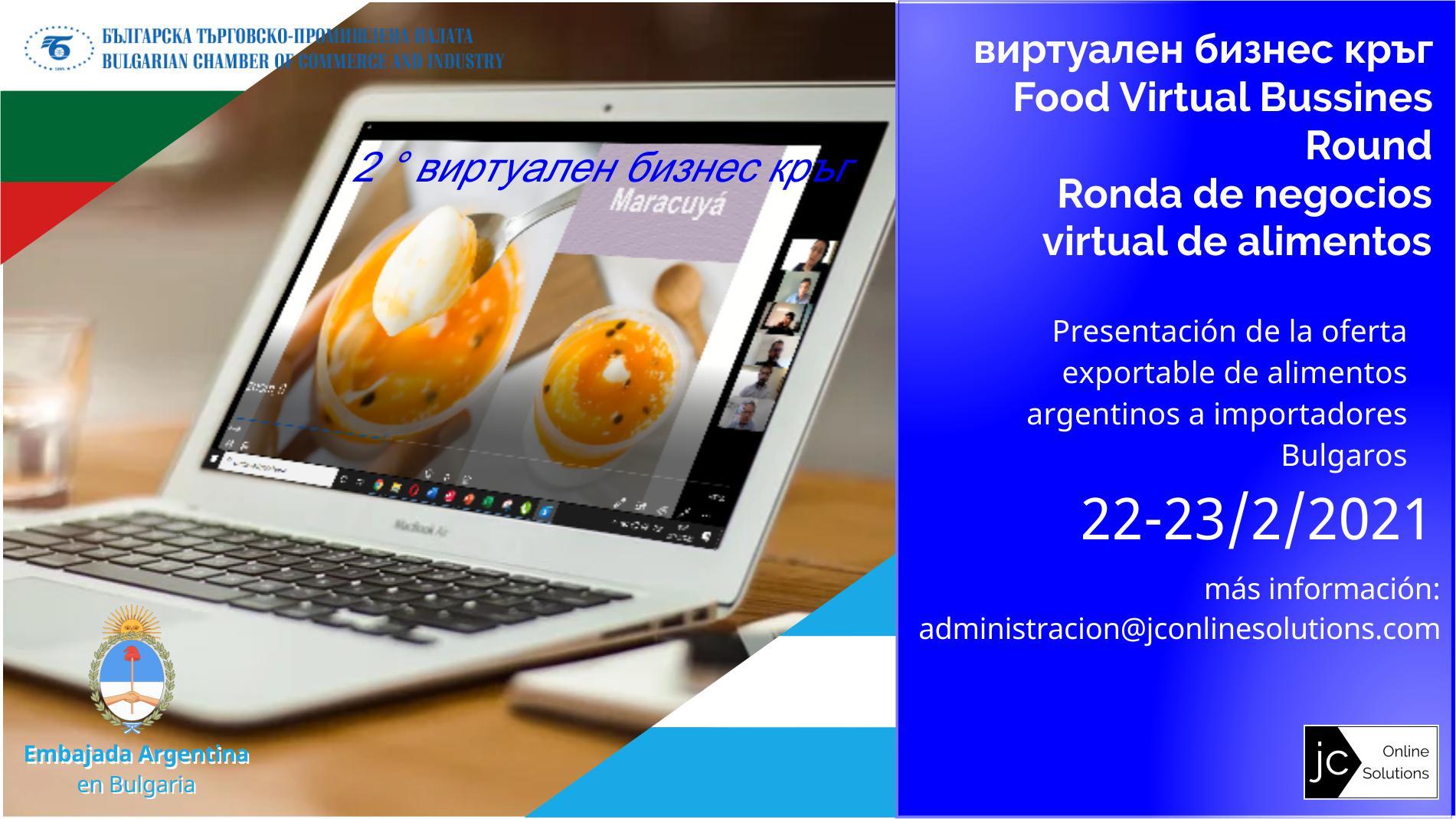 Ronda de negocios de alimentos con Bulgaria